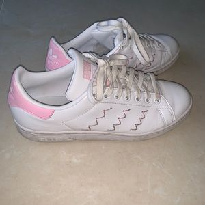 Baby pink Stan smith sneakers